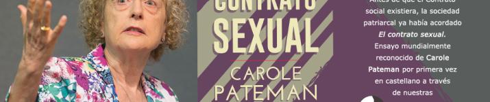 """""""El contrato sexual"""", de Carole Pateman"""